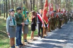 68. rocznica rozbicia obozu zagłady żołnierzy Armii Krajowej, Błudek gm. Susiec 05.05.2013