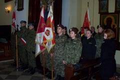 Uroczystość odsłonięcia pamiątkowej Tablicy stracenia trzech żołnierzy AK w dniu 12.03.2016