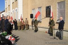 Uroczystości 69. rocznicy odbicia więźniów-żołnierzy AK z więzienia w Zamościu przez oddział por. Romana Szczura ps. ,, Urszula'' - fot. Jan Cios, 08.05.2015