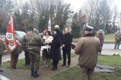Uroczystości obchodów 74. rocznicy rozstrzelania partyzantów AK i BCH, Hrubieszów 06.01.2018