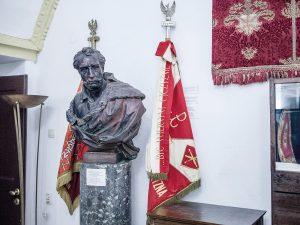 Sztandar 9 pp Legionów AK, Muzeum Kolegiaty Zamojskiej, fot. Piotr Błażewicz