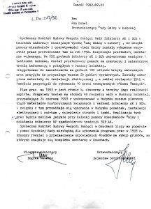 Pismo przewodniczącego B. Sobieszczańskiego i wiceprzewodniczącego Bogdana Kawałki do przewodniczącego Rady Gminy w Łukowej Jana Dubla o stanie prac wykonanych w 1992 r.