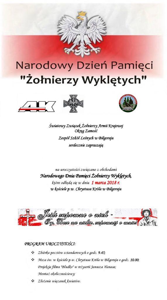 Narodowy Dzień Pamięci Żołnierzy Wyklętych w Biłgoraju – RELACJA