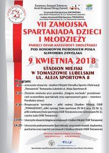 plakat spartakiada 2018