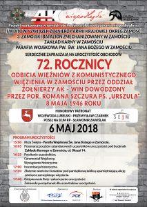 72 rocznica odbicia więźniów z komunistycznego więzienia w Zamościu