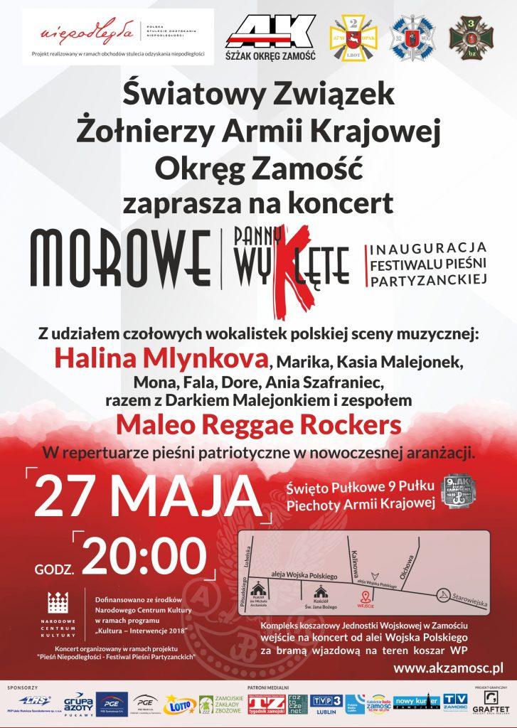 """Zaproszenie na koncert """"Morowe Panny Wyklęte"""" z udziałem czołowych wokalistek polskiej sceny muzycznej"""