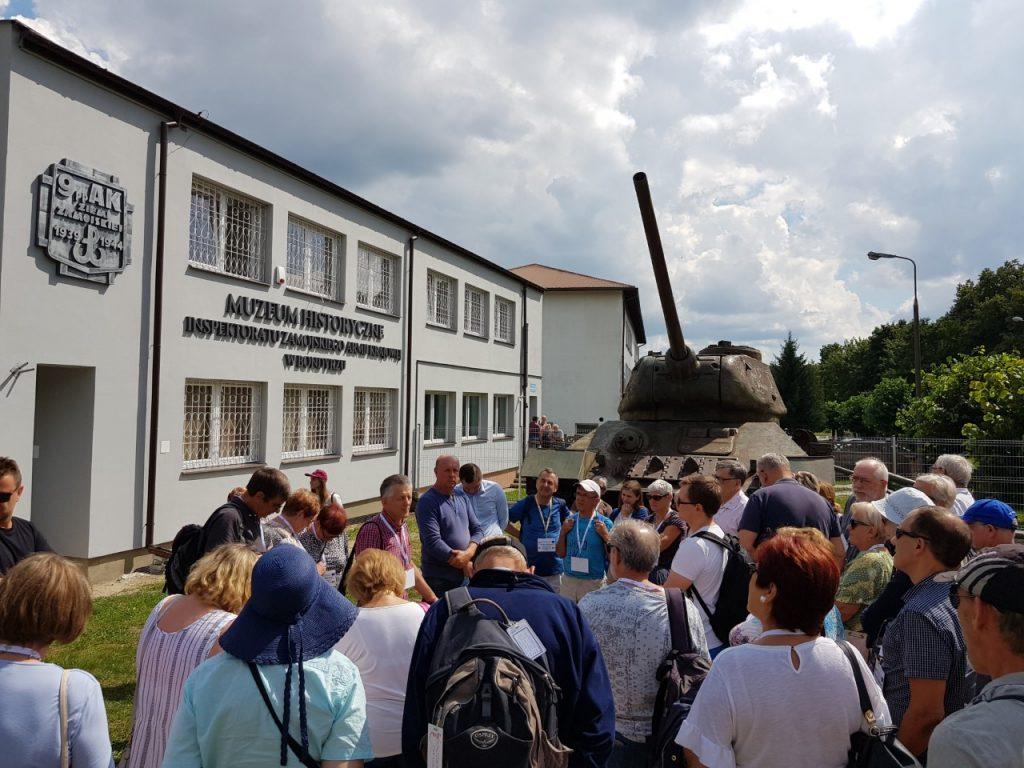 Międzynarodowa delegacja odwiedziła Muzeum Historyczne Inspektoratu Zamojskiego AK (13.07.2018)
