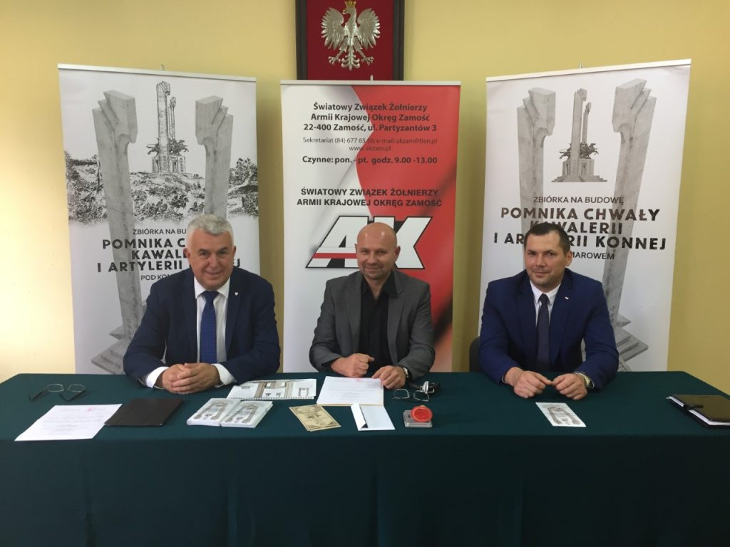 Budowa Pomnika Chwały Kawalerii i Artylerii Konnej – konferencja prasowa