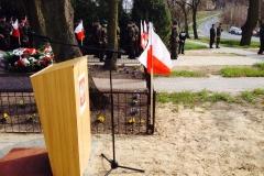 71. rocznica mordu mieszkańców Poturzyna przez nacjonalistów ukraińskich w dn. 1 kwietnia 1944r. przy pomniku ku czci pomordowanych w Poturzynie 12.04.2015