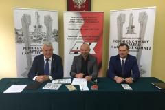 Budowa Pomnika Chwały Kawalerii i Artylerii Konnej - konferencja prasowa, 30.07.2018
