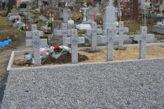 Miejsce pamięci żołnierzy września 1939 na cmentarzu w Dubie – gmina Komarów-Osada - po remoncie