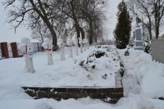 Miejsce pamięci żołnierzy września 1939 na cmentarzu w Dubie – gmina Komarów-Osada - przed remontem