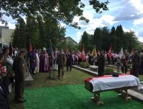 Uroczystości pogrzebowe Leona Taraszkiewicza ps. Jastrząb, Włodawa 16.07.2017