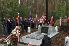Uroczystości poświęcone 65 żołnierzom Polskiego Państwa Podziemnego, straconych w lesie na Rapach koło Biłgoraja, 01.07.2018