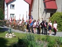Zjazd Żołnierzy 9 p.p.Leg. Armii Krajowej Ziemi Zamojskiej w Zwierzyńcu 29.05.2016