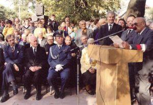 Odsłonięcie pomnika AK w Biłgoraju, fot. ze zbiorów I. Kulińskiej