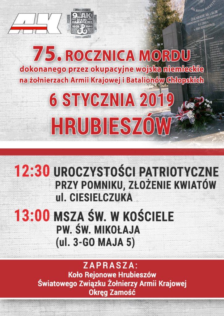 75 rocznica mordu dokonanego przez okupacyjne wojska niemieckie na żołnierzach Armii Krajowej i Batalionów Chłopskich