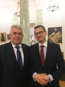 Prezes Zawiślak i Premier Morawiecki