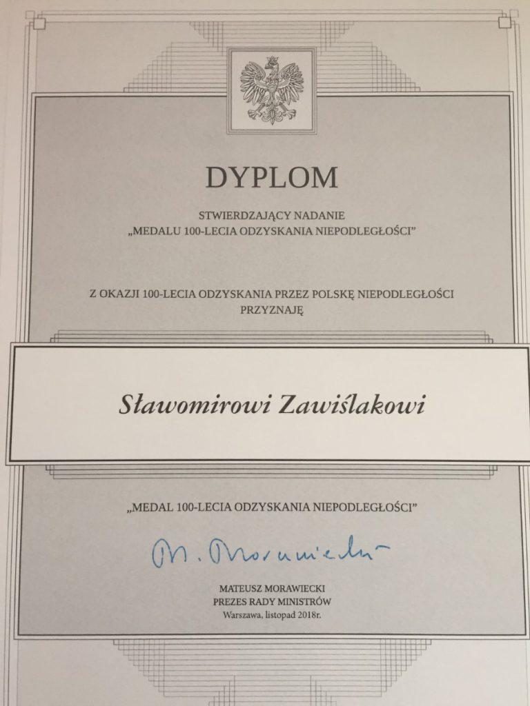 dyplom od premiera morawieckiego