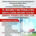 75. Rocznica Pacyfikacji Wsi Ameryka, Łasków, Smoligów i Olszynka 2019