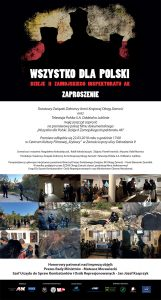 Wszystko dla Polski - dzieje II Zamojskiego Inspektoratu AK - zaproszenie na premiere