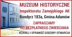 zaproszenie do zwiedzania muzeum ak w bondyrzu